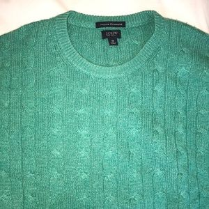 J. Crew Italian Cashmere Cable Knit sweater